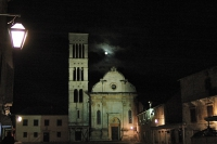 Peaceful moonlight over Hvar Cathedral