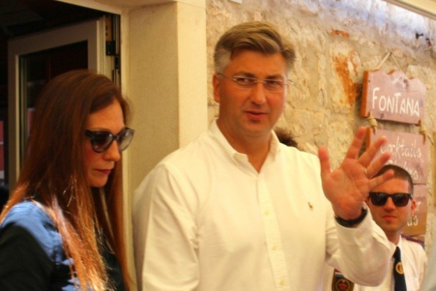 Premier Andrej Plenković with Anita Drinković
