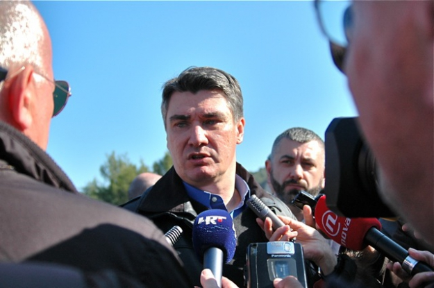 Prime Minister Milanović speaking to the Press